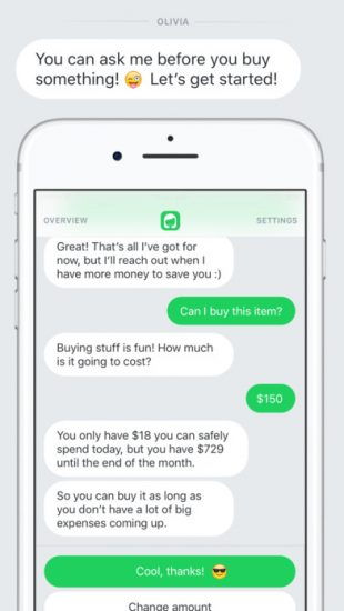 olivia-personal-finance-chatbot-app-dialog-screen